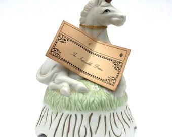 Vintage 1980s Impossible Dream unicorn music box