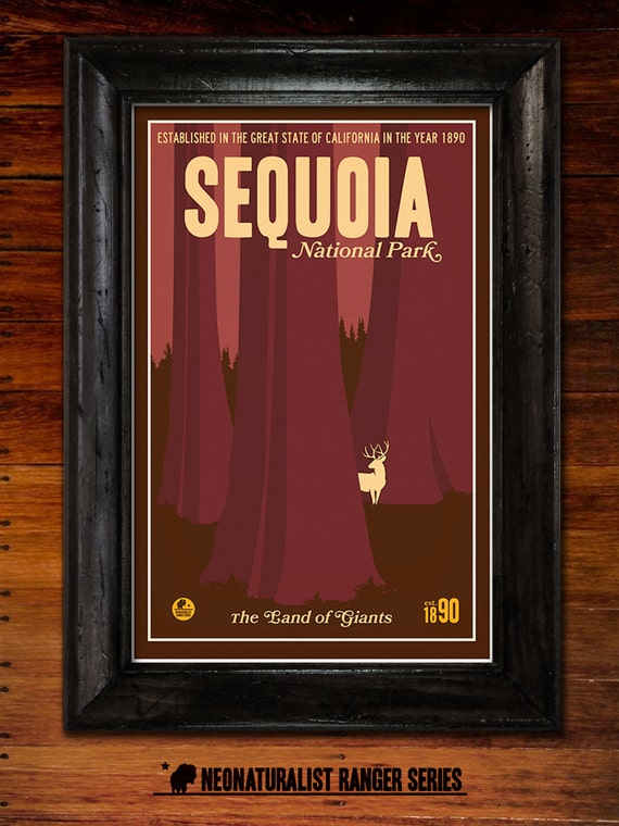 Sequoia National Park Poster Etsy
