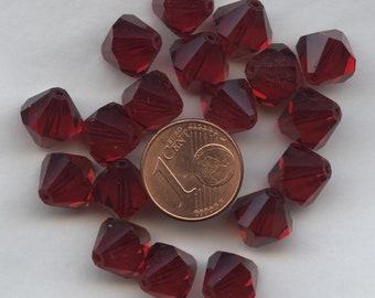 T8 5301 BD *** 8 toupies cristal Swarovski réf 5301 8mm BLACK DIAMOND