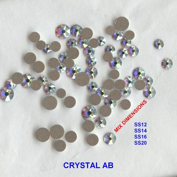 Volet 50 6 mm AB Cristal Transparent Verre facated Rond Perles UK