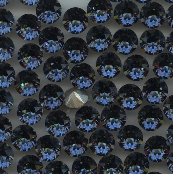 1088 SS39 SAH *** 8 strass Swarovski fond conique SS39 (8,3mm) CRYSTAL SAHARA
