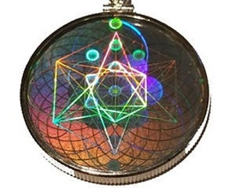 EMF Radiation Protection - Sacred Geometry Hologram Pendant