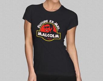 e97310099ec0 Future Ex Mrs. Malcolm - Jurassic Park Women s T-Shirt - Ex-Mrs Ian Malcolm  Girl s Jeff Goldblum Shirt Top - S M L XL XXL