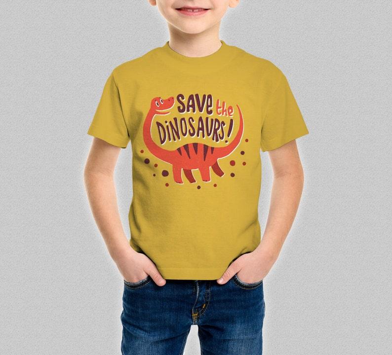 c03875e1ae8 Save The Dinosaurs Kids T-Shirt Jurassic World Funny Cute