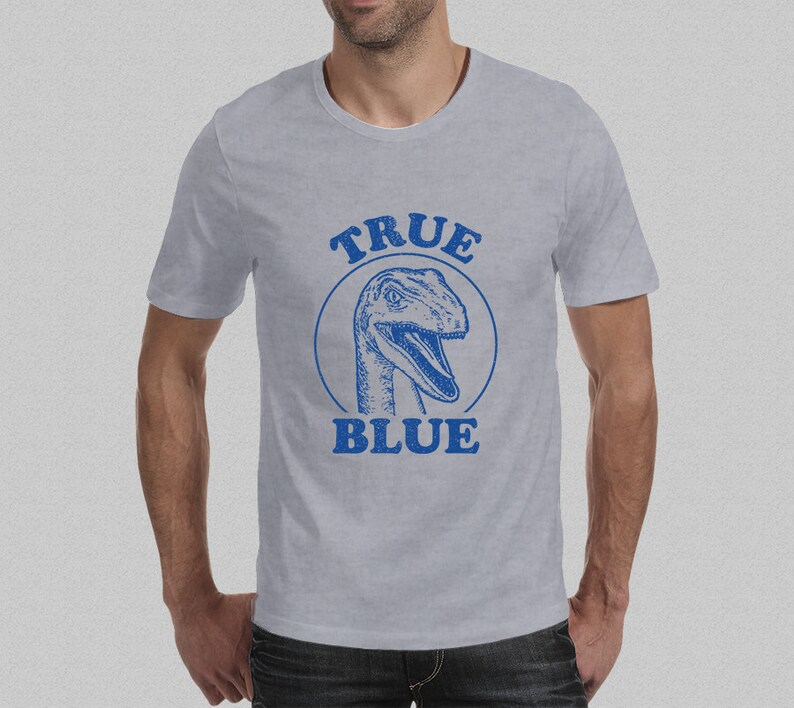 ba1965ccf873b True Blue Jurassic World Inspired Raptor T-Shirt Men s