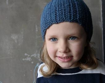 Baby/toddler blue beanie | baby beanie, toddler beanie, handmade beanie, crochet beanie, blue baby accessories