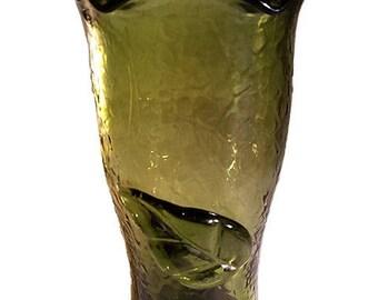 Green gl vase   Etsy on