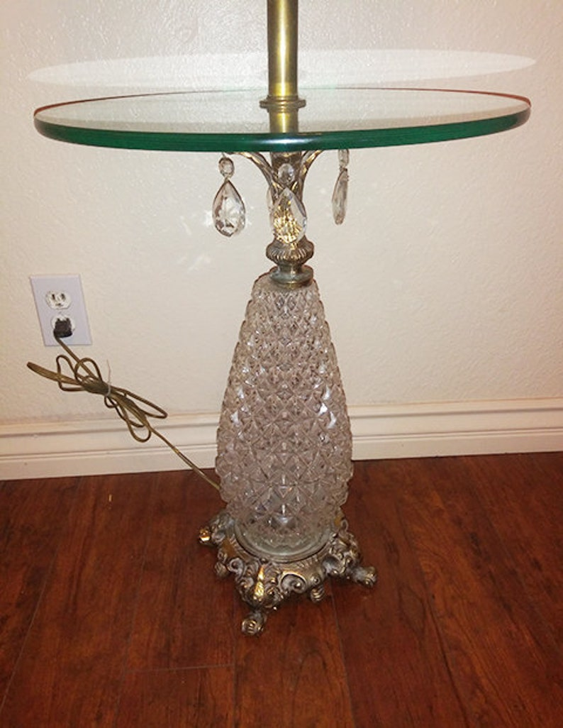 Pineapple Floor Lamp With Glass Table