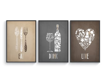 Merveilleux Home Wall Art About Food Coffee Tea Wine Cooking By BlackPelican