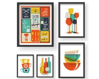 Merveilleux Kitchen Art Print   Etsy