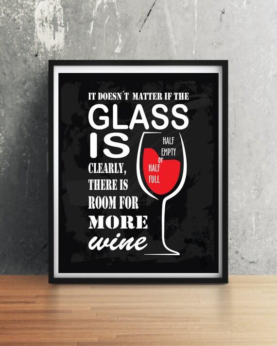 Red Wine Kitchen Decor, Wine Kitchen Wall Art. Wine print, Wine quote  print, Funny quote poster, Wine glass, Kitchen, Wine poster, Red wine