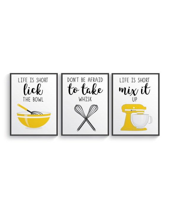 Yellow Funny Kitchen Prints Decor Etsy