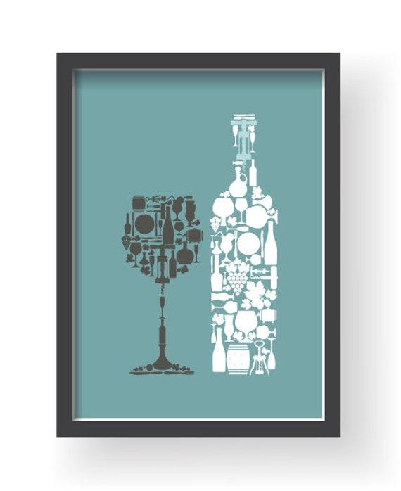 Lumière bleu gris mur de cuisine, art de mur de cuisine gris bleu, imprime  cuisine bleu clair, gris bleu du foyer, décoration de salle à manger gris  ...