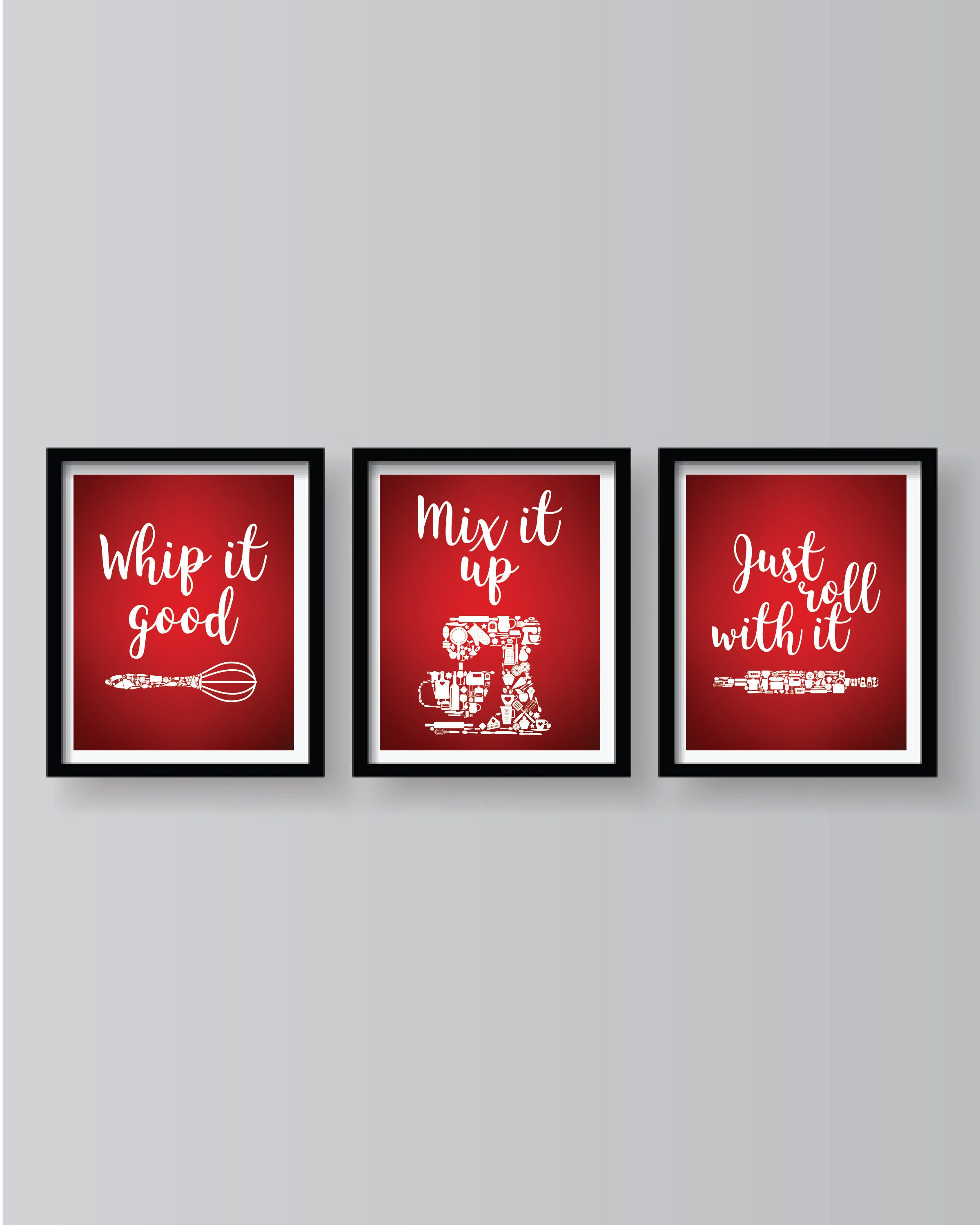 Red Kitchen Wall Art Dining Room Decor
