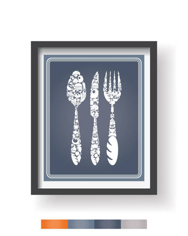 Dining room wall art Kitchen decor Kitchen wall decor Dinining room decor Modern Kitchen wall art Kitchen prints set