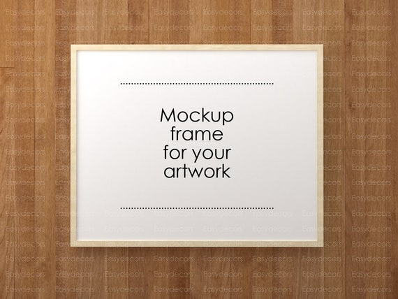 Mockup Frame Vertical And Horizontal Empty Frame Poster Etsy