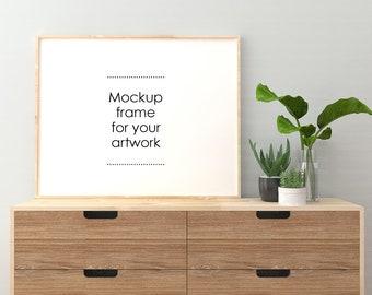 Mockup frame for your artwork, Empty frame mockup, Painting & photo frame, Digital download, Digital frame, Frame support your art display