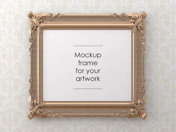 Poster /& photo frame Digital download Frame support your art display Mockup frame for your artwork Digital frame Empty frame mockup
