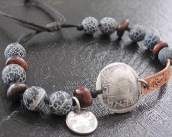 Beaded Bracelet for Men, Mens Beaded Bracelet, Mens Cuff Bracelet, Men's Bracelet, Men's Jewelry Bracelet, Bracelet For Men, Husband Gift
