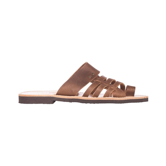 Philemon leather sandals for Men. Leather flip flops handmade in Greece,FREE SHIPPING in the USA