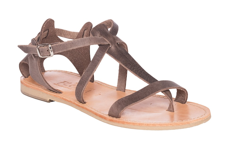 dc9947ee291ae Leather Greek sandals Women's.FREE SHIPPING in the USA, Gladiator sandals  leather,T strap,ankle,beach,summer,brown,Roman sandals - Aspasia