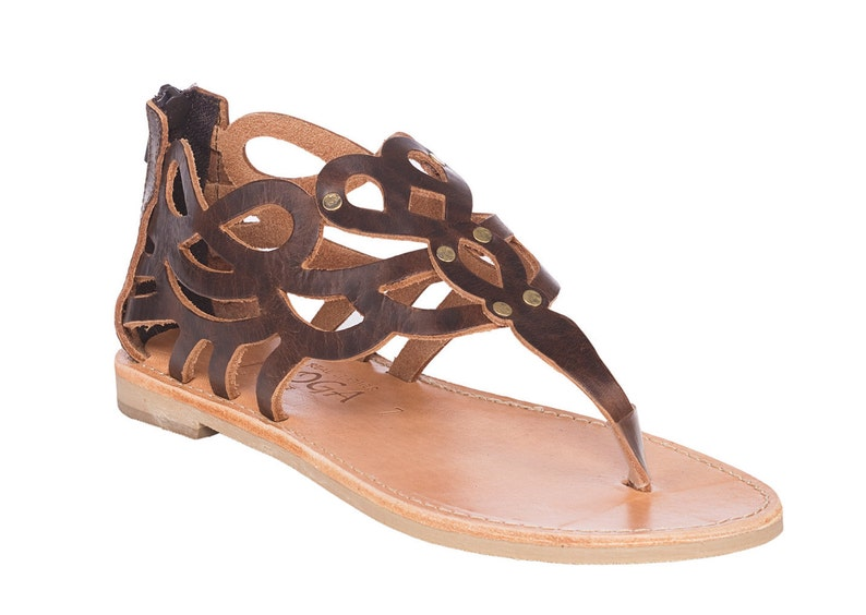 e096f00ca5a4 Brown leather sandals.FREE SHIPPING in the USA Handmade