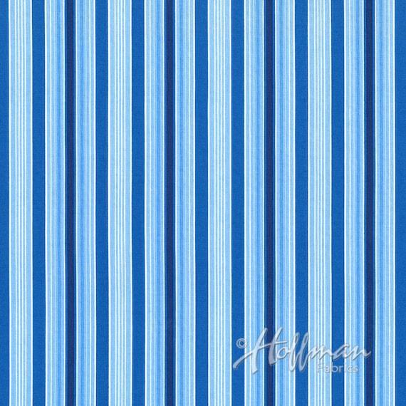 Dreft Stripes w/Navy fabric By Hoffman Fabric