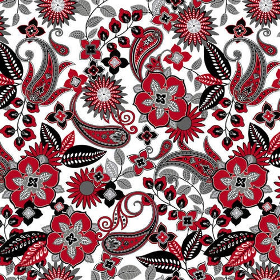 Henry Glass & Co Black, White and Red Hot Fabric Collection Number 2