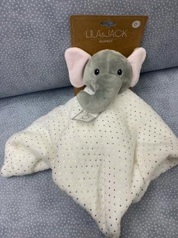 Stuffed Baby Elephant Monogram Lovies