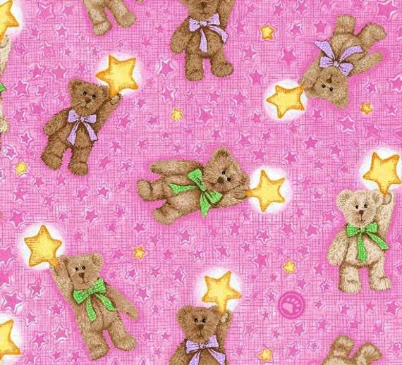 SPX Fabrics Boyds Bears Coordinates in Pink  Fabric 118