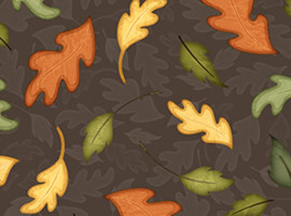 Quilting Treasures Fabric Harvest Fare - Leaves Fabric
