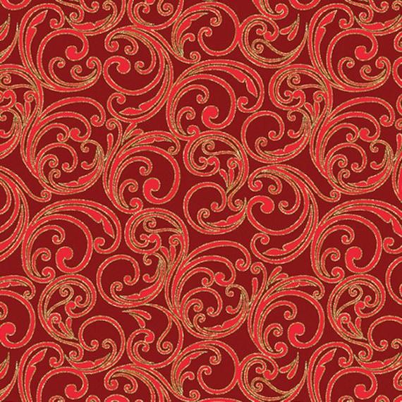 Kanvas Holiday Fabric Joyful Scroll 8280M