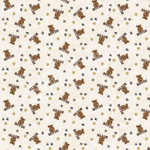 SPX Fabrics Boyds Bears in Brown Coordinates Fabric 585