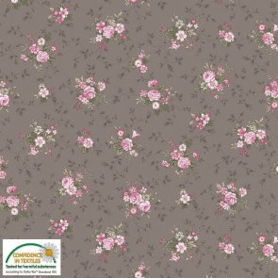 Juliet Small Roses Fabric by STOF