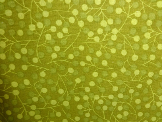 General Fabrics Green w/Dots & Vines 375