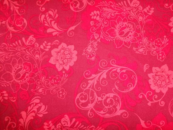 Quilting Treasures Dark Pink Masquerade Fabric   280