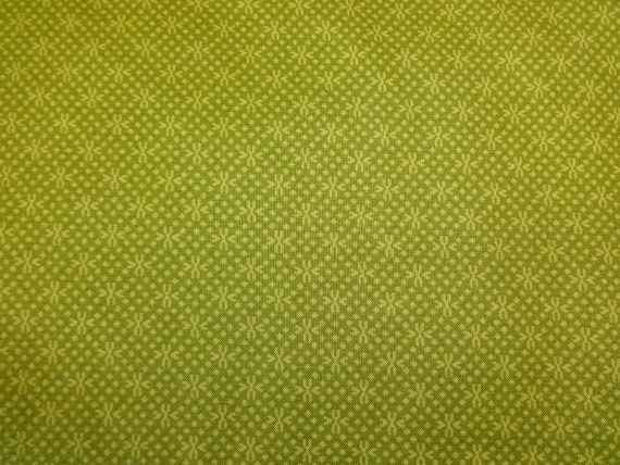 Fabric Traditions Green w/Light Green Pattern 378