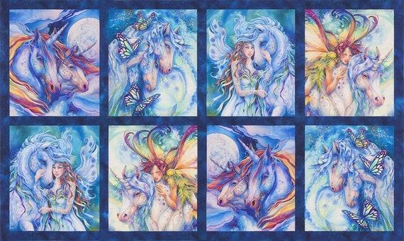 Robert Kaufman Morningmoon Fairy & Unicorns Collection