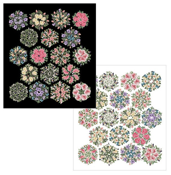 Northcott Fabrics Triangle Frenzy Bouquet Quilt Kit INCLUDES BACKING