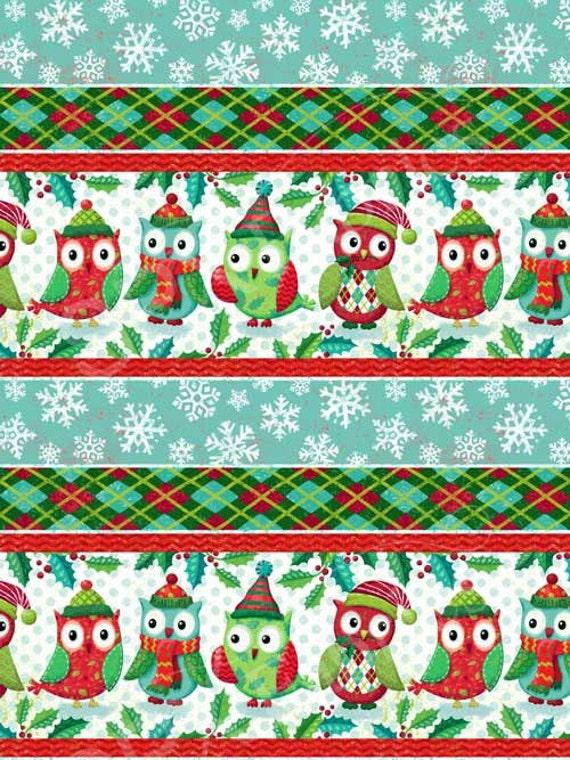 SPX Fabrics Owl be Home for Christmas 546 Christmas Owls