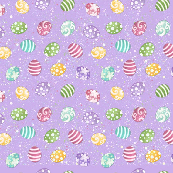 Tossed Easter Egg  Fabric  by Blank Quilting