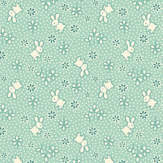 Nana Mae II Bunny Toss  Fabric By Henry Glass & Co