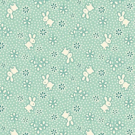 Nana Mae II Bunny Toss  Fabric By Henry Glass & Co
