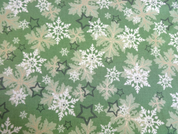 Newcastle Fabrics Christmas at Home in Green 527