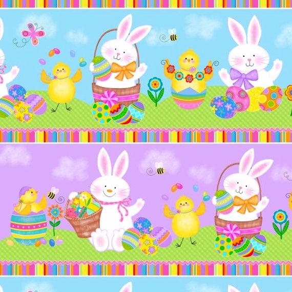 Spring Has Sprung Bunny Play Fabric by Studio E