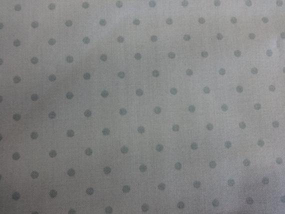 General Fabrics Light Teal w/Teal Polka Dots 356