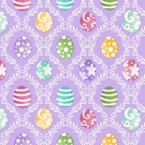 Easter Egg Harlequin  Fabric  by Blank Quilting
