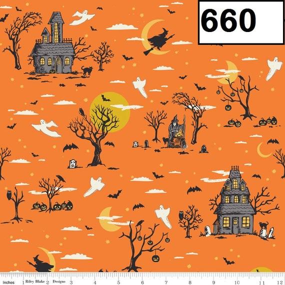 Riley Blake Fabrics Happy Haunting - Haunted House