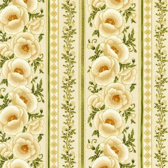 Robert Kaufman Gilded Blooms Metallic Fabric Collection