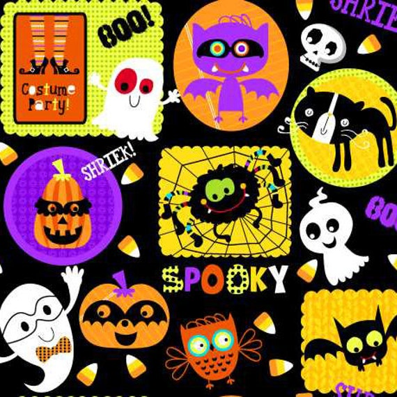 Studio E Fabrics Slime Time Halloween  in Black Fabric 564
